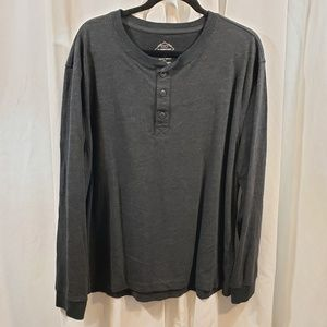 St Johns Bay XL legacy henley sueded black gray he